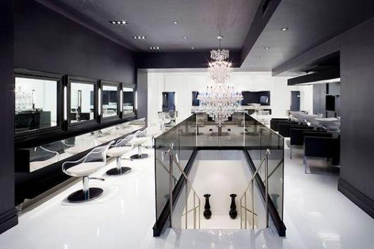 decoração de luxo preta e branca