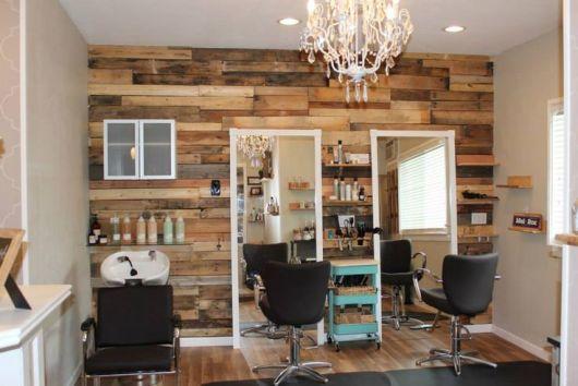 Decora o de sal o de beleza dicas e 77 ambientes lindos - Ideas para decorar una peluqueria ...