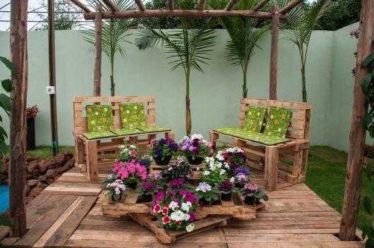 banco de jardim em pvc : banco de jardim em pvc:Decoração de jardim: 71 ideias incríveis para seu quintal!