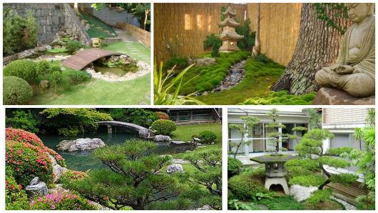 ideias de jardim japonesPedras irregulares fazem parte do projeto