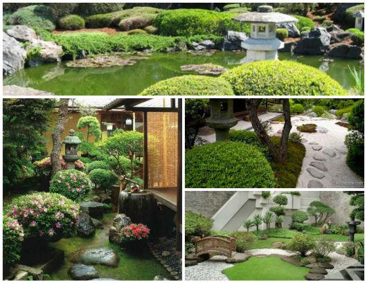 decoração jardim oriental
