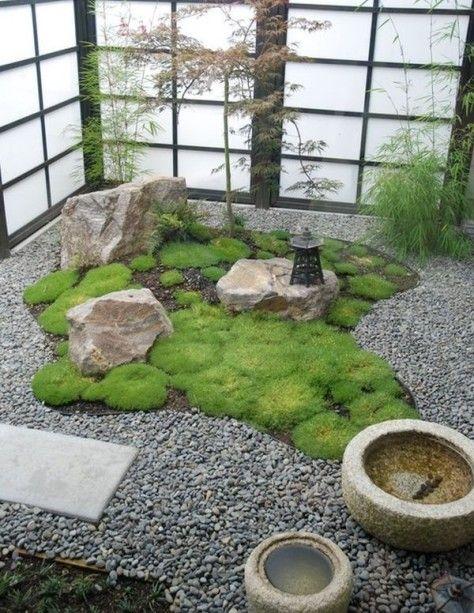 ideias de jardim japones : ideias de jardim japones:Mais uma proposta para o jardim interno, os elementos que compõem os