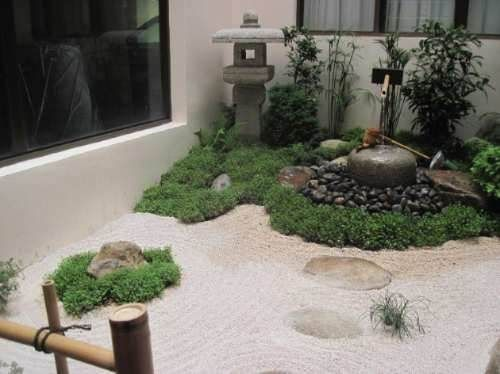 mini jardins orientais:Jardines Interiores Pequenos