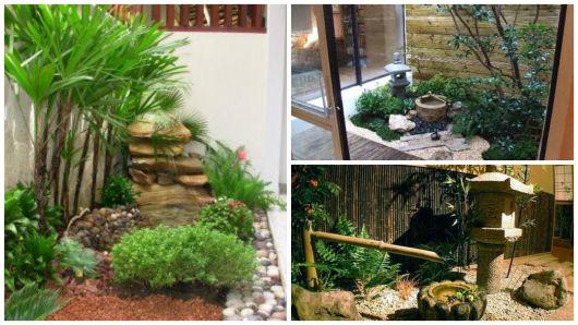 decoração jardim interno