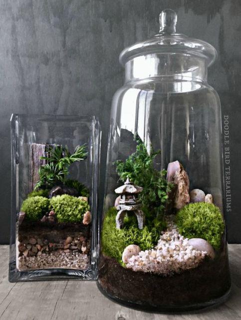 Jardim japon s ideias de como fazer um espa o zen - Kit terrarium plante ...