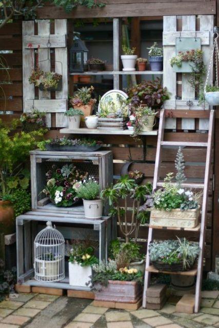 jardim rústico caixotes