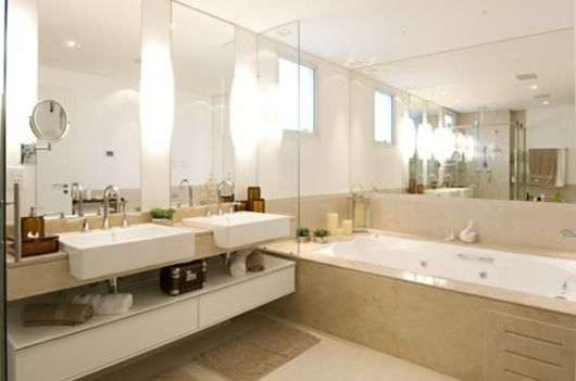 bancada dupla banheiro