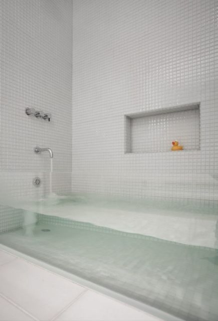 banheiro de vidro blindex