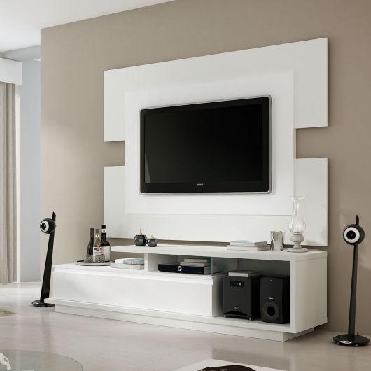 Rack Branco Com Painel Para Quarto ~ Modelos de Racks para TV Como escolher o ideal para voc?