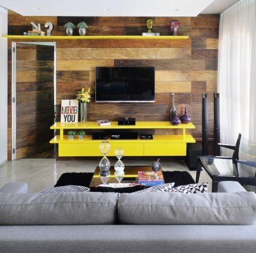 Sala De Tv Com Rack Amarelo ~ Modelos de Racks para TV Como escolher o ideal para você