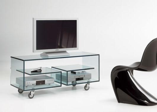 modelos de racks vidro com rodas