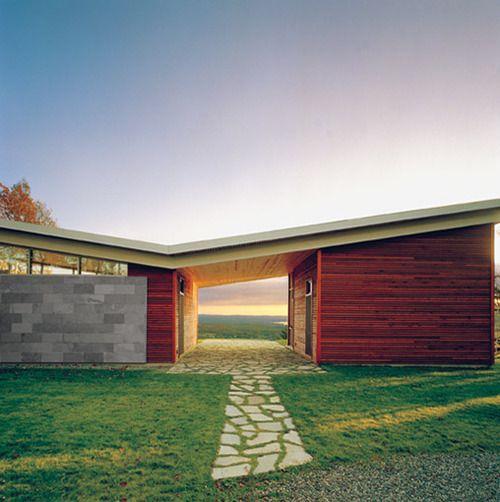 casa moderna telhado