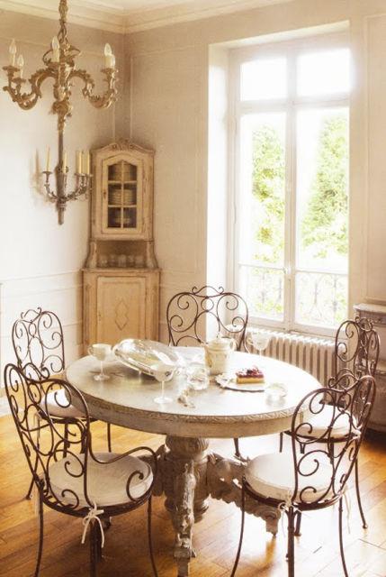 decoração rústica sala de jantar