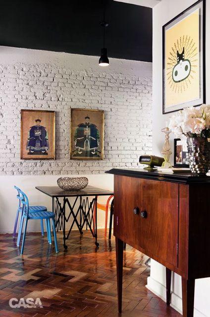 piso de taco sala de jantar