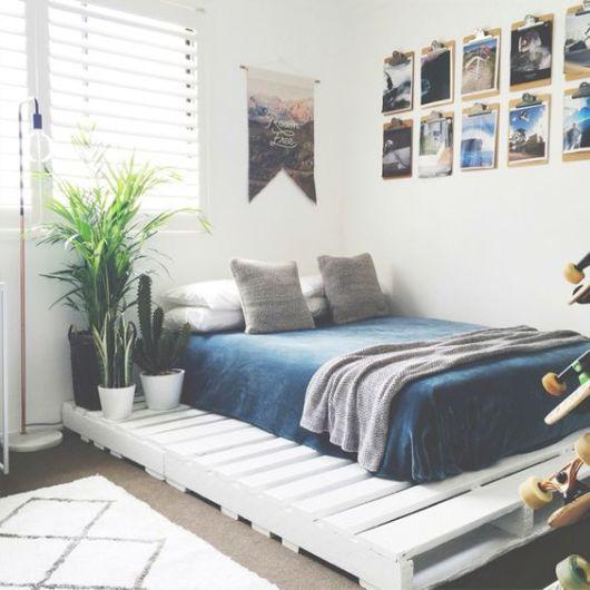 moveis de paletes para quarto azul