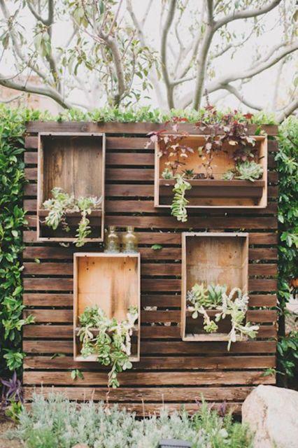 jardim vertical rústico