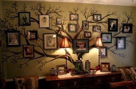 parede com árvore