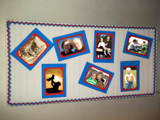 Mural de fotos 72 ideias incr veis e lindas for Como colocar papel mural