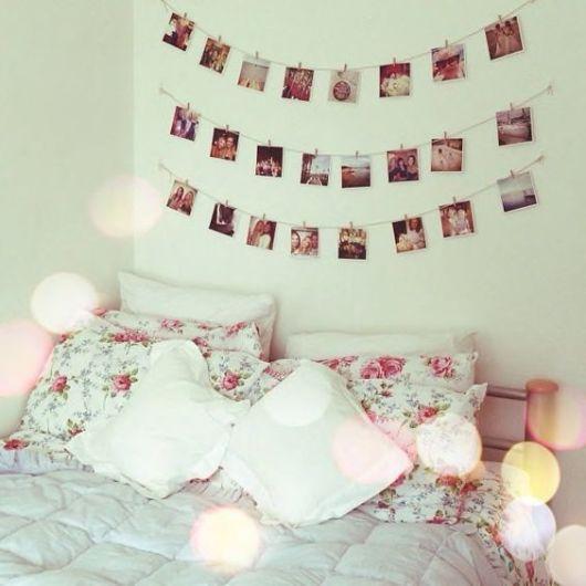 Mural de fotos 72 ideias incr veis e lindas - Como decorar pared con fotos ...