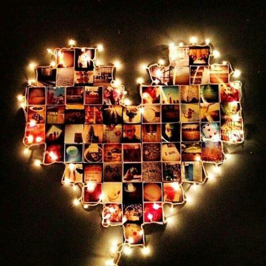 coração com luzes