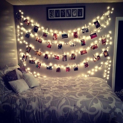 cordão de luzes decoração