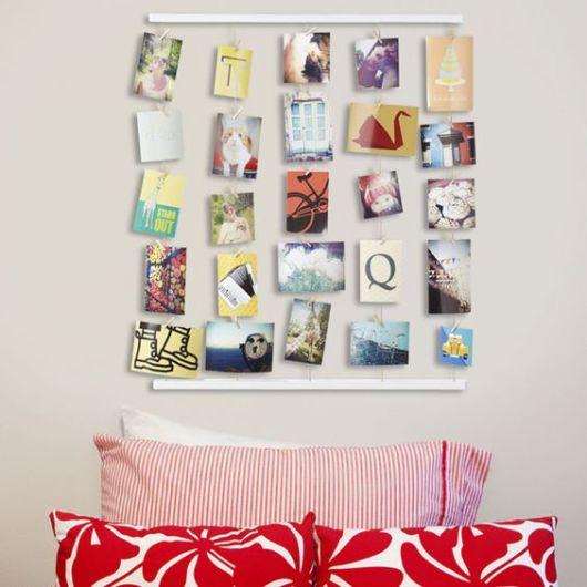 Mural de fotos 72 ideias incr veis e lindas for Mural de los 5 sentidos
