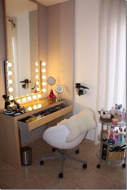 penteadeira moderna luzes