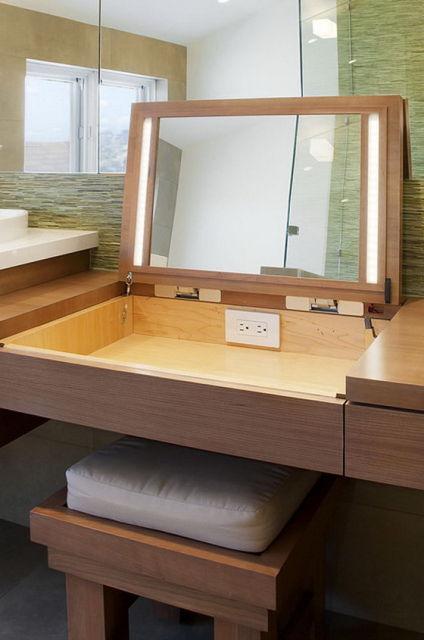 penteadeira moderna madeira