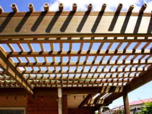 pergolado de bambu