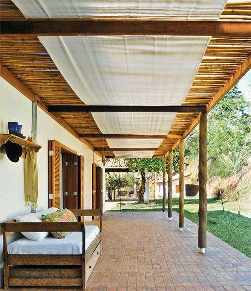 pergolado de bambu campo