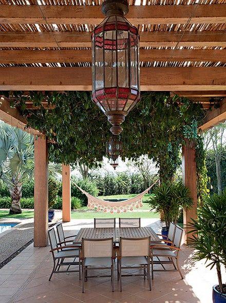 pergolado de bambu estrutura