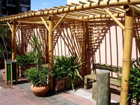 pergolado de bambu ideias
