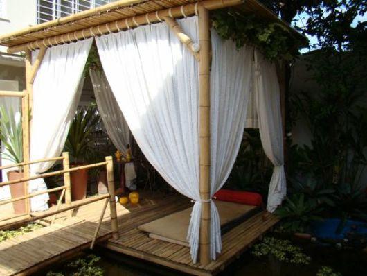 pergolado de bambu provençal