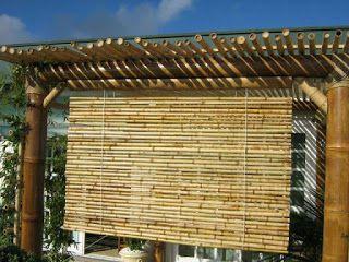 pergolado de bambu sol