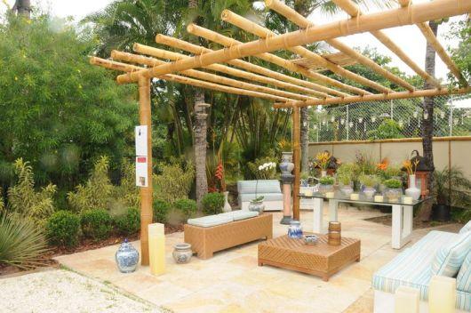 Pergolado de bambu como fazer tratar e 45 ideias lindas for Material piscina barato