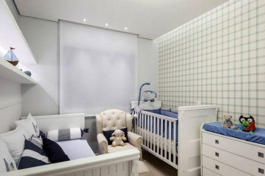 Persiana Rolo Para Quarto Infantil ~ papel de parede xadrez decora o quarto de beb?