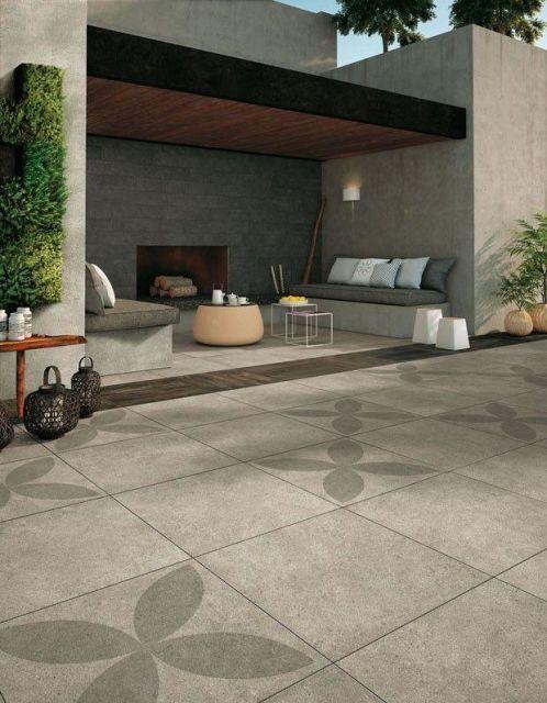 piso externo cerâmica