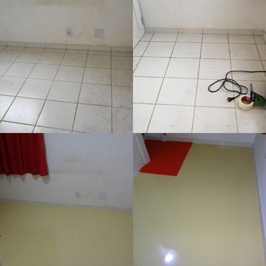 cobrir piso com rejunte