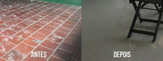 antes e depois área externa