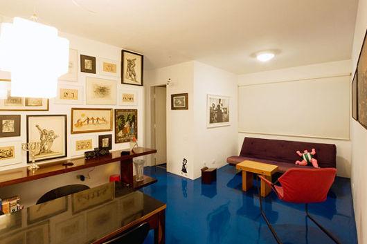 piso azul