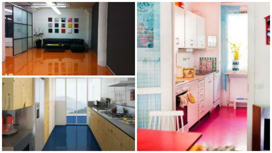 piso colorido