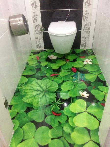 piso divertido banheiro