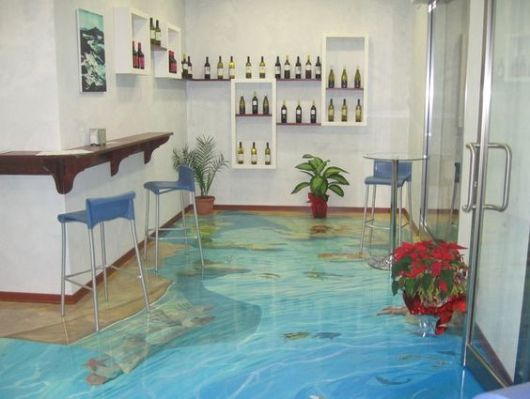 piso imitando mar
