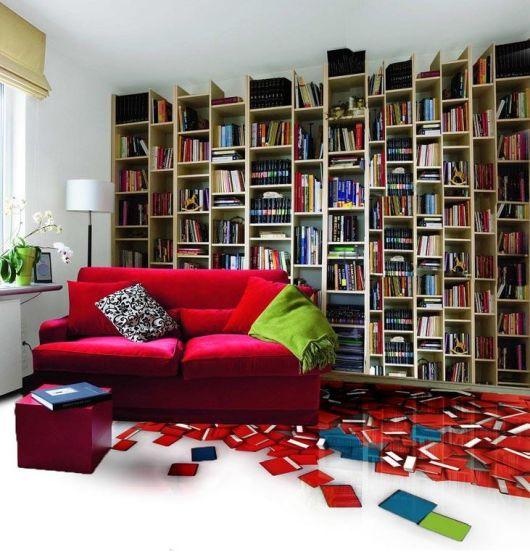 sala de livros