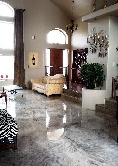 piso epóxi de mármore