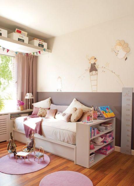 Prateleiras para quarto 77 ideias lindas para a decora o - Decorar habitaciones infantiles pequenas ...