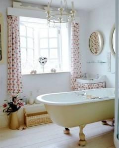 cortina para janela de banheiro estampada