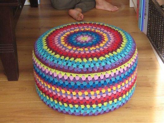 barbante colorido crochê