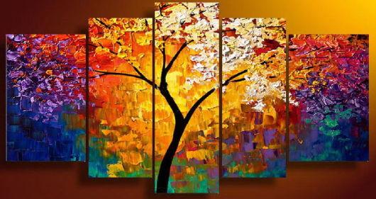 quadros artesanais árvores