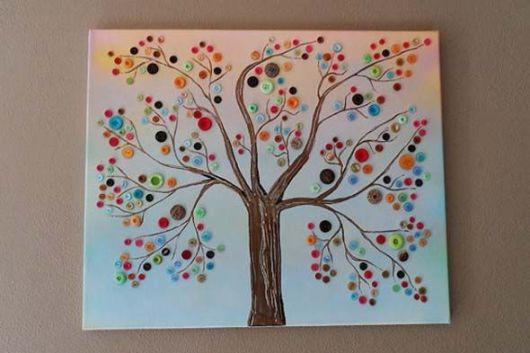 quadros artesanais com botões